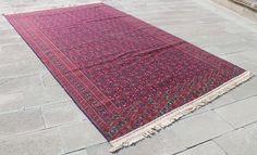 Turkoman Rug 84''x144'' Hand Woven Cicim Kilim 214x367cm #Turkish