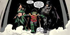Robin - Son of Batman Batgirl, Catwoman, Nightwing, Son Of Batman, Batman Family, Batman Robin, Talia Al Ghul, Tim Drake, Damian Wayne