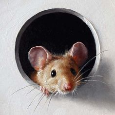Illustration by Marina Dieul ~ The mouse looks like he is about to crawl through the page.