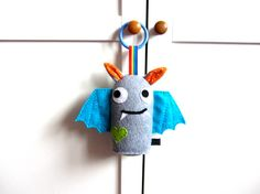 Halloween Baby Toy: Plush Hanging Toy Bat by MadeByEdenGrace