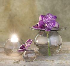 Mini+vase+i+metallic+sølv.+Design+av+Finn+Schjøll. 70mm