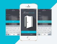 "Check out new work on my @Behance portfolio: ""KnockKnock App""…"