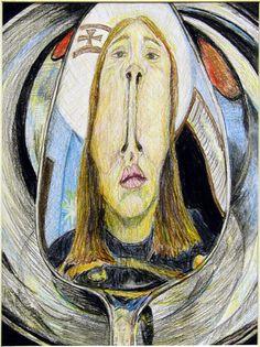 distorted self portrait