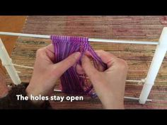 This video is about holes in sprang. Another video about playing with holes is the one about playing with warp transposition. More information about sprang a. Arm Warmers, The Creator, Spring, Crochet, Lace, Youtube, Fabrics, Finger Weaving, Crochet Hooks