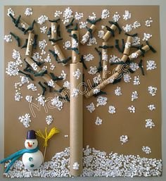 Mauriquices: Adoro a Neve!!! Kids Crafts, Preschool Activities, Craft Projects, Paper Hand Craft, 3d Paper Art, School Board Decoration, Library Themes, Sensory Wall, Christmas Crafts