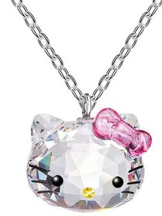 85074a590 Tassina Silver color Korea KT Crystal Cute hello kitty bow Cat Necklaces  Pendants Fashion Jewelry for women