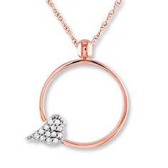 Diamond Bird Necklace 1/15 ct tw Round-cut 10K Two-Tone Gold