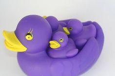 Purple Rubber Ducky Family