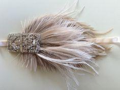 Great Gatsby Headpiece, Flapper Headband, Fascinator Headband, Tie Headband, Baguette, Velvet Color, Pink Velvet, Satin Noir, Art Deco