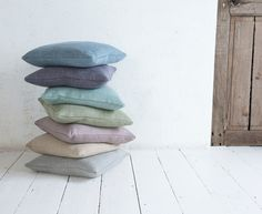 Our gorgeously handmade Scatter cushions are feather-filled and available in over 100 fab fabrics. They look peachy when layered up in different sizes, colours and textures! Linen Bedding, Bedding Sets, Comforter, Scatter Cushions, Throw Pillows, Beige Bed Linen, House On The Rock, Colour Board, Modern Colors