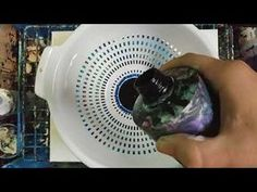 """Fluid-Art: """"Swirl"""" technique acrylic pouring. Easy way of creating circular, tree ring like pattern - YouTube"""