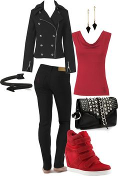 """""""Team Spirit with AN EDGE"""" by meeshandmia on Polyvore"""