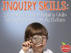 Hands on activities for Science Inquiry skills. Such great ideas for exploring the senses, the scientific method, and tools.