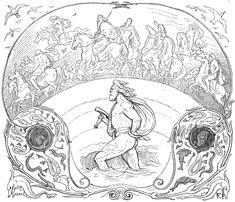 Thor_wades_while_the_æsir_ride_by_Frølich.jpg (1053×905)