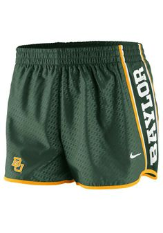 #Baylor Bears Nike women's green chainmaille shorts
