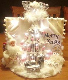 Prachtige kerstboom van een boek, supercute.
