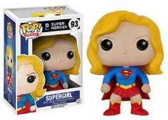 It's a bird… it's a plane… it's Supergirl! This Supergirl Pop! Vinyl Figure features Kara as an adorable vinyl figure! Standing about 3 3/4 inches tall, this figure is packaged in a window display box. #funko #popvinyl #actionfigure #collectible #Supergirl