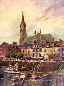 Ireland Painting - Cobh Golden Hour County Cork Ireland by Keith Thompson