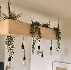Hall Lighting, Rustic Restaurant, Interior Plants, Plant Decor, New Homes, Lights, Living Room, Kitchen, Outdoor