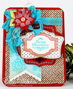 For the love of life: JustRite Papercrafts Christmas Vintage Labels One