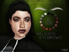 "blahberry-pancake: ""  ○● DOWNLOAD ON MY SITE ●○  'Delicate' Eyebrows - 15 swatches - HQ textures - unisex - custom thumbnail ﴾ TERMS OF USE ﴿ Also if you like what I do, you can check out my donation..."