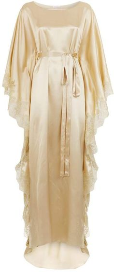 Rosamosario Silk Belted Kaftan Pin Up Lingerie, Satin Nightie, Girl Fashion, Fashion Dresses, Golden Girls, Indian Designer Wear, Pure Silk, Kaftan, Night Gown