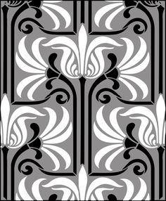 Art Nouveau stencils from The Stencil Library. Buy from a range of Art Nouveau stencils online. Page 1 of Art Nouveau repeatpattern stencil catalogue. Motifs Art Nouveau, Art Nouveau Pattern, Art Nouveau Design, Design Art, Stencil Art, Stencil Designs, Tile Patterns, Textures Patterns, Stencils Online