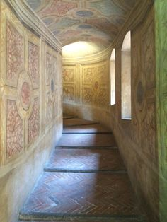 Corridoio Castello di San Giorgio San Giorgio, Architectural Features, Doorway, Arches, Castles, Hardwood Floors, Stairs, Italy, Windows