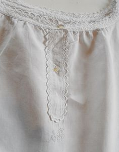 Nightgown Vintage French Fine Linen with by Vintagefrenchlinens, $55.00