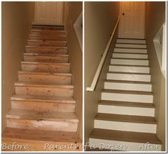 Refinishing basement steps DIY