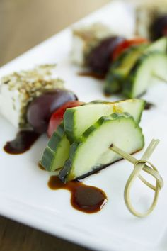Greek Salad on a Stick | Bright, healthy, and bite-sized!