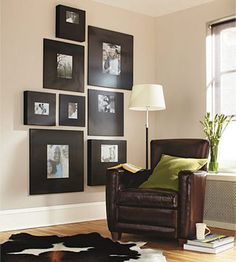 Great frames - good way to decorate a big empty wall