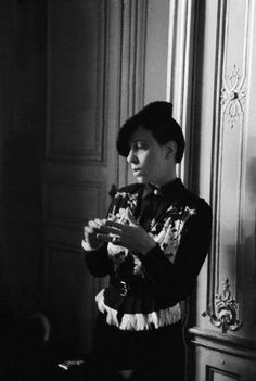 * Elsa Schiaparelli In Her Offices At The Place Vendome In Paris In 1935. Photo Keystone