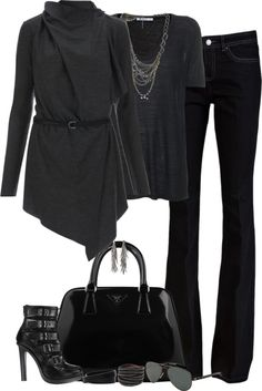 """""""Like Johnny Cash... All Black"""" by partywithgatsby ❤ liked on Polyvore"""