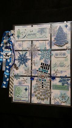 Let it Snow, snowman blue/white Pocket Letter