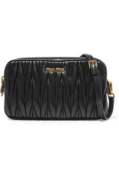 Miu Miu | Small matelassé leather camera bag | NET-A-PORTER.COM