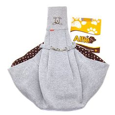 Alfie Pet by Petoga Couture - Chico Reversible Pet Sling Carrier - Color: Grey >>> Want to know more, click on the image.