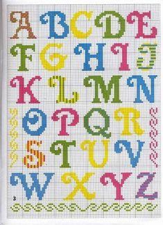 Pin on Cross stitch Crochet Alphabet, Cross Stitch Alphabet Patterns, Cross Stitch Letters, Cross Stitch Borders, Cross Stitch Baby, Cross Stitch Designs, Cross Stitching, Cross Stitch Embroidery, Embroidery Patterns