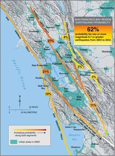 The threat of future earthquakes across the Bay Area, from the U.S. Geological Survey.
