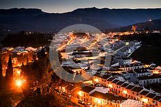 Photo about A view upon Ronda city taken in december 2015 around Christmas time. It s a MUST VISIT place if you like to hike! Image of andalusian, chasm, houses - 70321473 Andalusia Spain, Night City, Christmas Time, December, Hiking, Stock Photos, Places, Travel, Image
