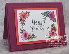 Such a sweet sentiment, perfect for any occasion.  With Mother's Day coming up, this card sure would make HER heart smile!  Made with the Timeless Love stamp set from Stampin' Up!