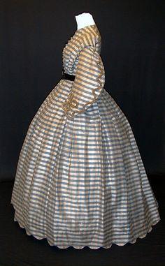 Civil War era silk day dress