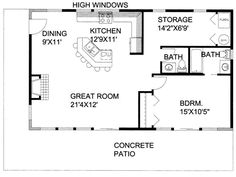 Superb Floor Plan, 012H 0204