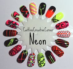 Caitlin'sCreativeCorner: Neon Swatch Wheel!
