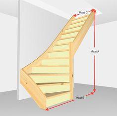 Deze functionele onderkwart trap met 12 treden is gemaakt van massief vurenhout en is uitgevoerd als bouwpakket. ;De treden en de trapbomen zijn 38mm dik ;en ;deze trap is voorzien van multiplex stootborden van 12mm dik. ;De trap wordt in losse onderdelen geleverd. Schroeven zijn bijgesloten, net als een handleiding.