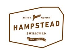 住宅ブランド「Hampstead | ハムステッド」のロゴデザイン。