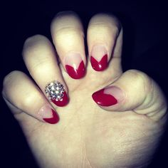 Gem and red nails
