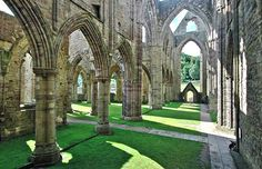 Tintern Abbey - Looking across the transept to the south.
