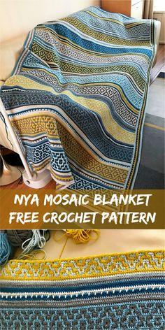 Nya Mosaic Blanket [Free Crochet Pattern] #crochet #mosaic
