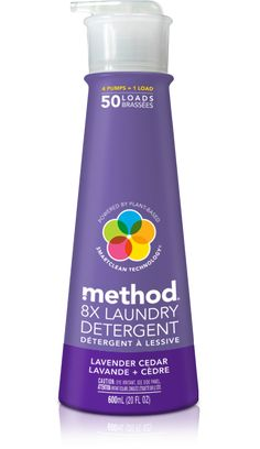 method laundry detergent in lavender + cedar packs 50 loads of ultra concentrated plant-based formula, delivering big cleaning power with a few squirts. Method Cleaning Products, Cleaning Items, Cleaning Hacks, Method Laundry Detergent, Cleaning Cupboard, Cata, Cruelty Free, Plant Based, Vegan